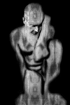 Struktur-Statue von Cor Heijnen