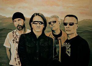 U2 Silver And Gold Schilderij