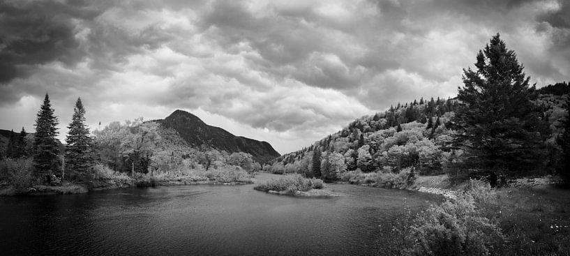 Storm clouds approaching a lake in an autumn forest van Luis Fernando Valdés Villarreal Boullosa