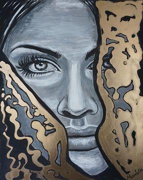 Gesicht einer Frau von Marielistic-Art