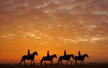 Paarden en hun ruiters  sur Dirk van Egmond