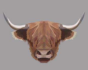 Schottische Highlander-Illustration