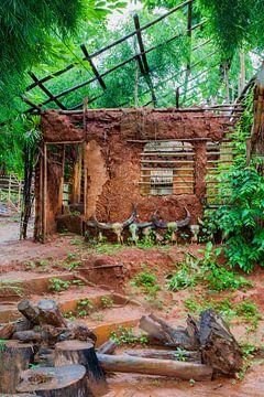Dorf Langnek Thailand von Ben van Boom