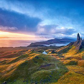 Vieil homme de Storr en Écosse sur Peter de Jong