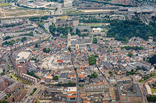 Breda Centrum Luchtfoto met Grote Kerk centraal