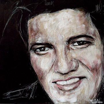 Porträt von Elvis Presley. Der König. von Therese Brals