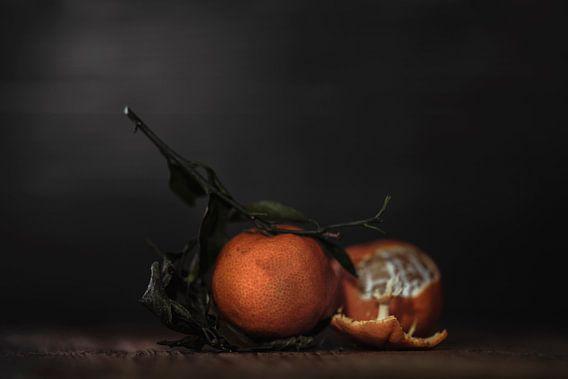 Stilleven Clementines met stengel