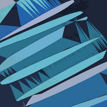 Blauwe ladder van Kay Weber