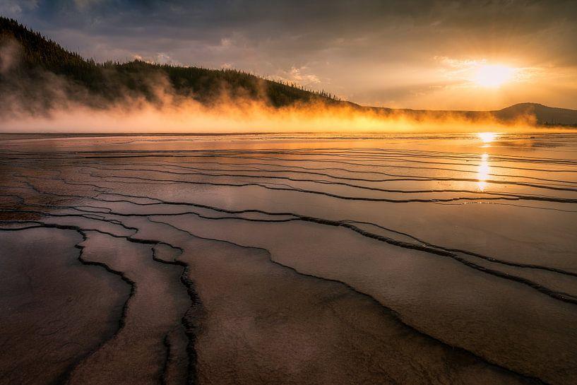 Sunset in Yellowstone sur Edwin Mooijaart