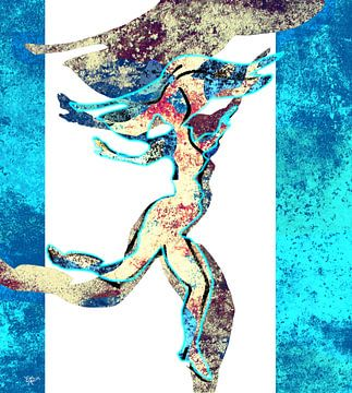 Danser in blauw van