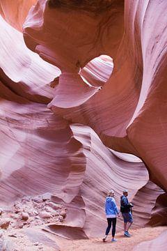 Antelope Canyon (Lower), Page, Arizona, Amerika van Henk Alblas
