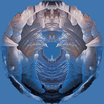 IJssculpturen, Lauwersmeer, blauw, diepte. van Greet ten Have-Bloem