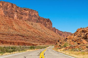 Szenische Nebenstraße Utah von Richard van der Woude