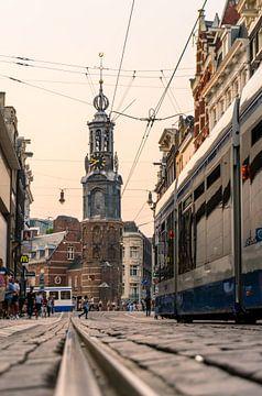 Munttoren in Amsterdam van Alex van der Aa