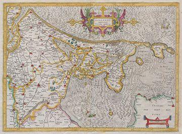 Holland, Mercator map van het graafschap uit 1606 van Atelier Liesjes