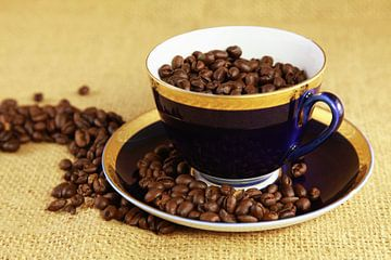 Blauw koffiekopje von Falko Follert
