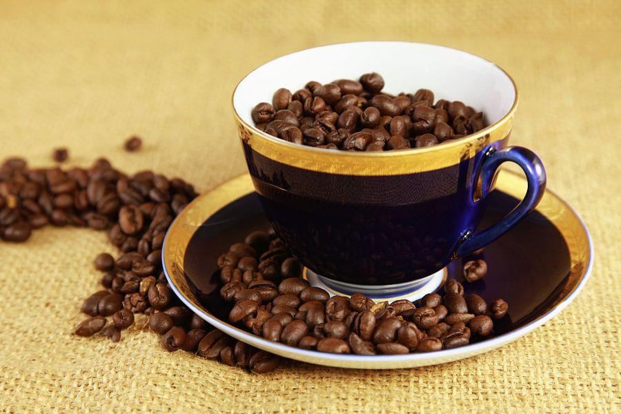 Blauw koffiekopje