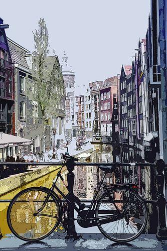 Zeedijk achter Amsterdam Abstract