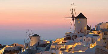Sonnenuntergang bei Oia, Santorini von Barbara Brolsma