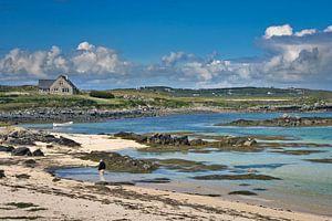 Strandzicht op Galway Bay,  Ierland van