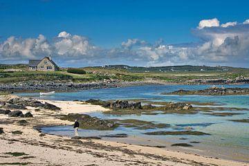 Strandzicht op Galway Bay,  Ierland van Hans Kwaspen