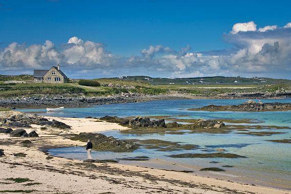 Strandzicht op Galway Bay,  Ierland
