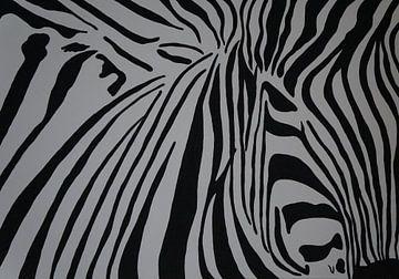 Zebra van Babetts Bildergalerie