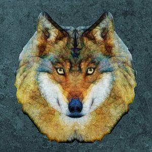 abstrakt wolf von Anne Ebert