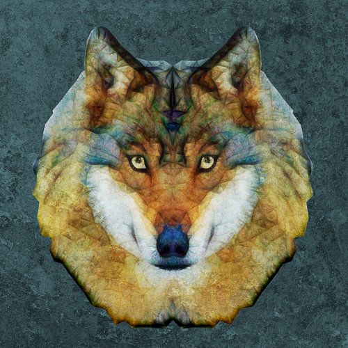 abstrakt wolf van