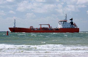 Frachtschiff auf See von MSP Canvas