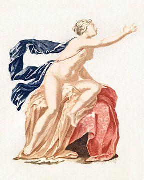 Mohn und nackte weibliche Figur (1688 - 1698) von Atelier Liesjes