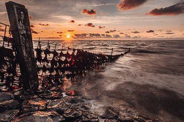 Hek in de waddenzee van Geert Jan Kroon