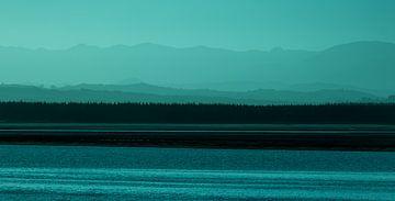 Zonsondergang, Nelson, Nieuw-Zeeland - II (B) van Jelle IJntema