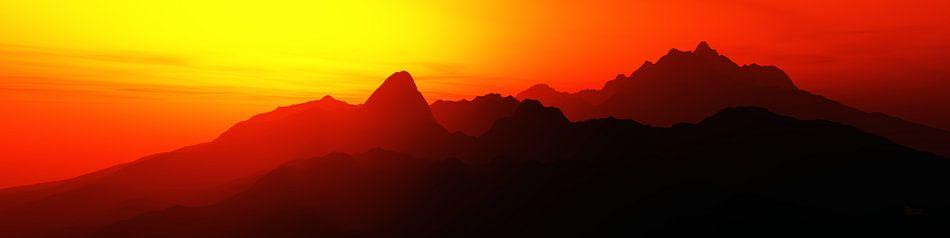 Abstract Berglandschap