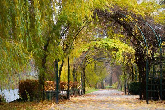 the autumn path van Bernd Hoyen