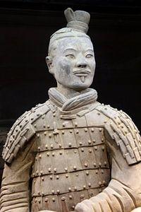 Soldaat van het terracottaleger in Xian, China