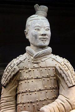 Soldaat van het terracottaleger in Xian, China van Inge Hogenbijl