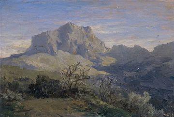 Carlos de Haes-Graue-Alpen-Landschaft, Steinberg, Antike Landschaft