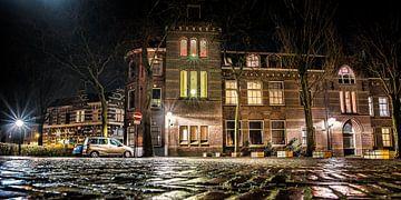 Nachtfoto Leeuwarden nabij Grote Kerk sur Harrie Muis