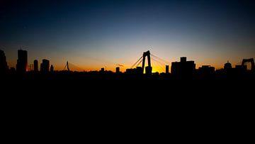 Skyline Rotterdam van Elvin Boer