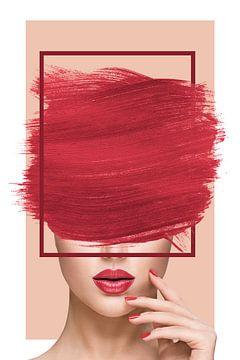 Elle, en Rouge et Formes