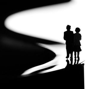 Wandeling in zwartwit van