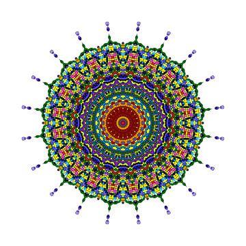 Mandala Vlinder van Marion Tenbergen