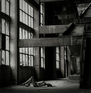 naakt oude fabriek vrouw erotische van Johan Van Der Horn
