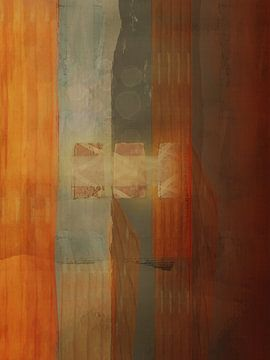 Fantasy abstract met blokken van Joost Hogervorst
