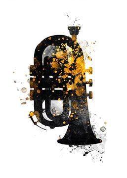 Kornett Musikinstrument Kunst #Kornett von JBJart Justyna Jaszke