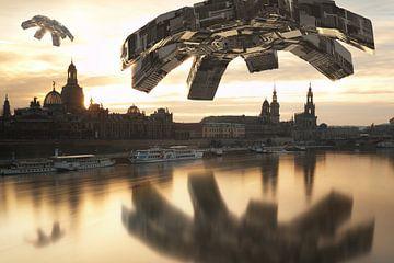 UFOs over Dresden van Jörg Hausmann