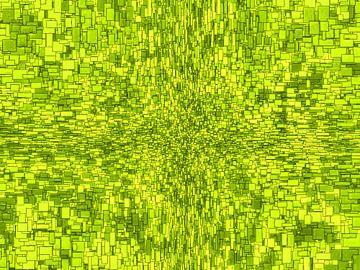 Abstrakter Stil Quadrate Grün Horizontal von Hendrik-Jan Kornelis
