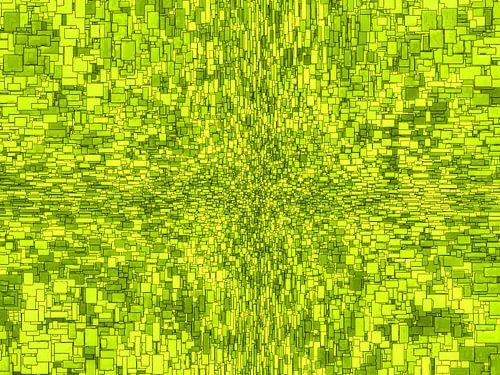 Abstract Stijl Vierkantjes Groen Horizontaal