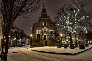 Sneeuw bij het Stadhuis van Schiedam van Charlene van Koesveld